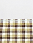 Warm Tan/Brown/Oat/White 100% Linen Gingham Shirt Weight Linen - European Linen - 59W