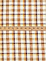 White/Mulberry/Goldenrod 100% Linen Plaid Shirt Weight Linen - European Linen - 58W
