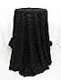 Black/Silver Polyester/Metallic Ruffle Novelty Knit - Famous Dress Designer - 60W